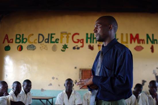Peter Onyango Teaching at Kisumu Children's Remand Home