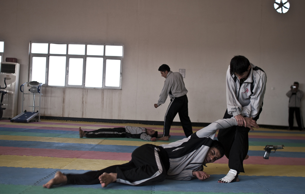 Taekwondo demonstation by the  Zerevani Kurdish Special Forces