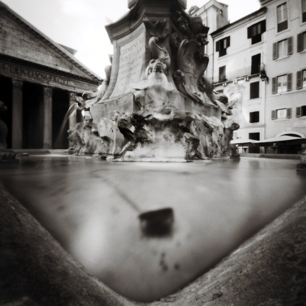 Outside the Pantheon, Rome Pinhole