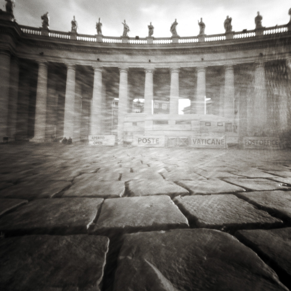 Vatican Post Office in Saint Peter's Square Pinhole