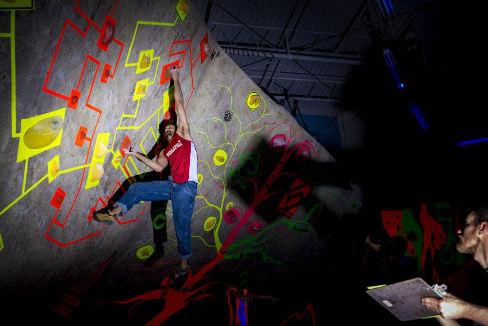 MetroRock Climbing Blackout Boulder Brawl
