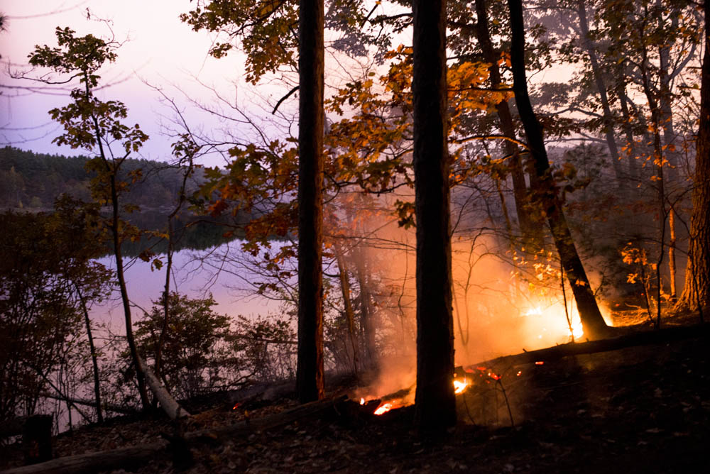 Forest Fire in the Middlesex Fells