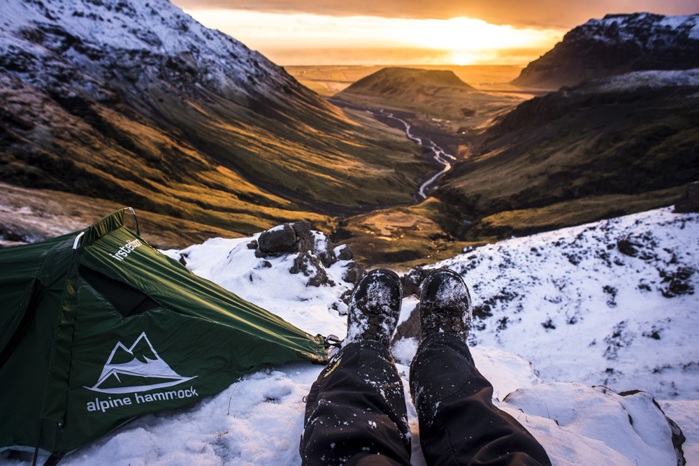Alpine Hammock Camping in Iceland