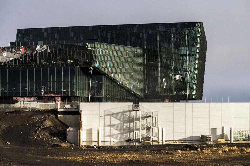 Harpa concert hall in Reykjavik designed by Ólafur Elíasson on an Iceland road trip