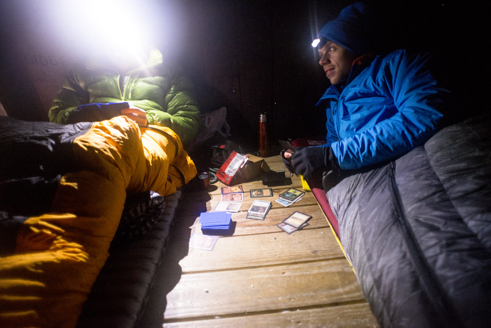 Playing Magic Cards in the shelter