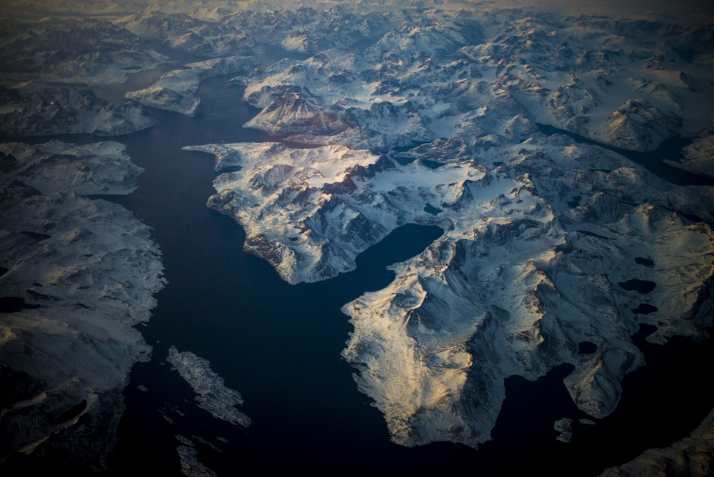Aerial View of Glaciers