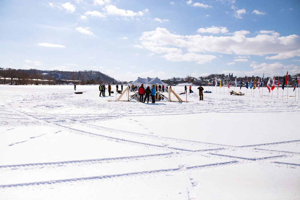 Lake Memphremagog Winter Swimming - Newport, Vermont